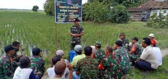 Danramil 403-05/Buay Madang OKU Timur Sosialisasi Bios 44 Kepada Petani