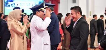 Hadiri Pelantikan Gubernur Lampung, Herman Deru Eratkan Kerjasama di Wilayah Belajasumba