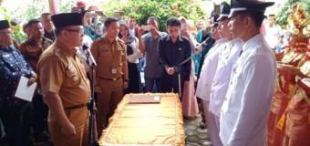 Tiga Kades di Kecamatan Lintang Kanan Resmi Dilantik
