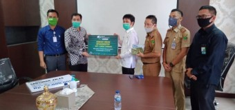 Empat Lawang Terima Bantuan 500 Masker dari BPJAMSOSTEK Muara Enim