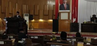 Herman Deru Sampaikan Penjelasan Raperda Pertanggungjawaban APBD TA 2019