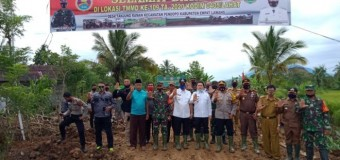 Bupati dan Wabup Hadiri Pembukaan TMMD Ke-109 di Desa Tanjung Raman